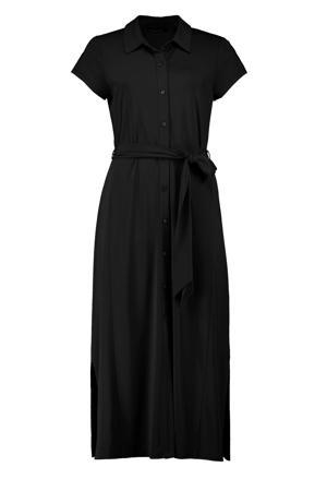 blousejurk met ceintuur zwart