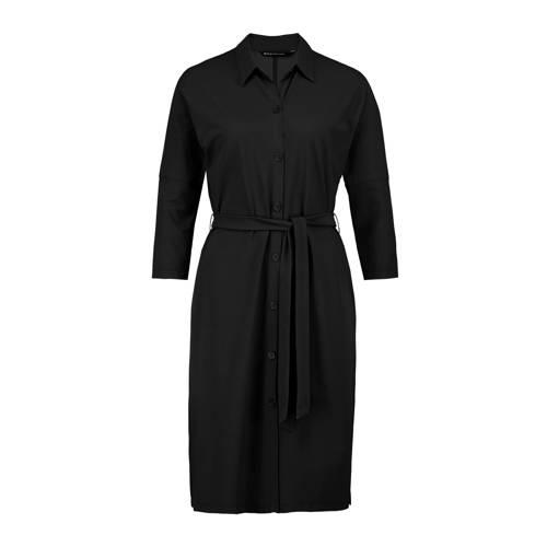 Expresso blousejurk met ceintuur zwart