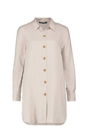 linnen blouse lichtbeige