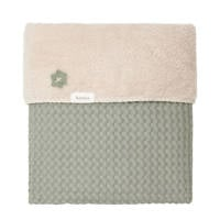 Koeka Oslo baby wiegdeken wafel/teddy 75x100 cm Shadow Green, shadow green