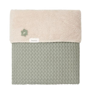 Oslo baby wiegdeken wafel/teddy 75x100 cm Shadow Green