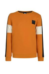 Jill & Mitch by Shoeby sweater Phoebo oranje/zwart/ecru, Oranje/zwart/ecru