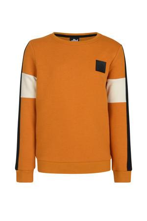 sweater Phoebo oranje/zwart/ecru