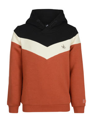 hoodie Parker camel/ecru/zwart
