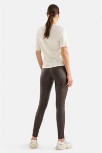 Eksept by Shoeby coated skinny broek Cyra donkerbruin, Donkerbruin