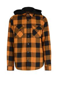 Jill & Mitch by Shoeby geruit overhemd Philip oranje/zwart, Oranje/zwart