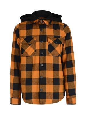 geruit overhemd Philip oranje/zwart