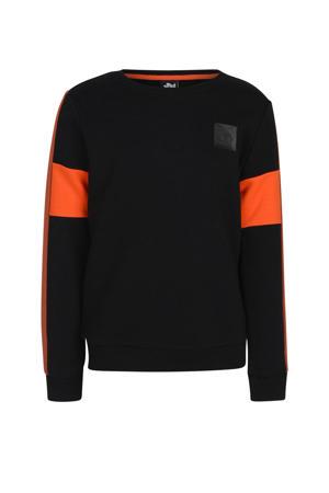sweater Phoebo zwart/oranje