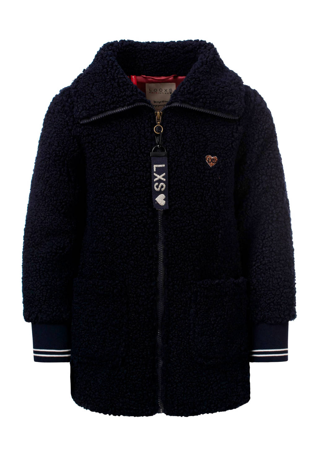 LOOXS little teddy winterjas donkerblauw, Donkerblauw