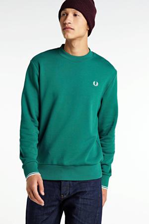 sweater groen/wit