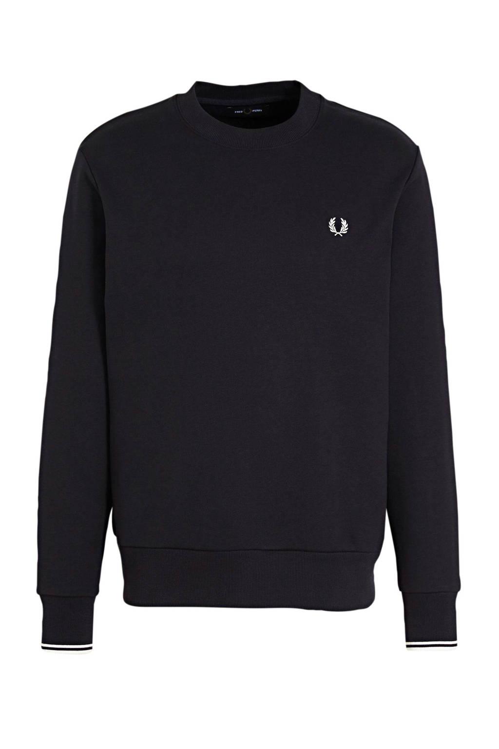 Fred Perry sweater zwart, Zwart