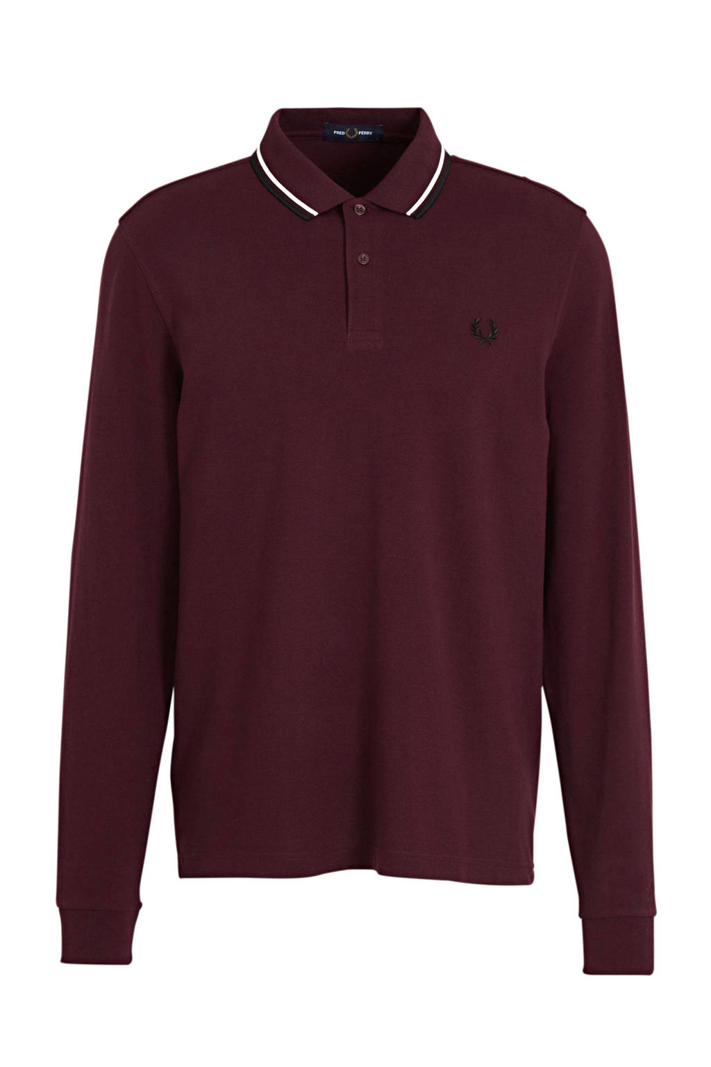 Fred Perry regular fit polo rood/wit, Rood/wit