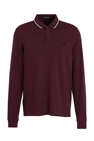 regular fit polo rood/wit