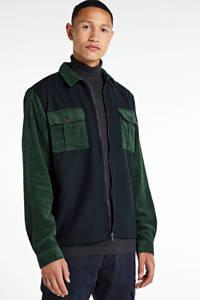 Anerkjendt overshirt, Donkerblauw/groen