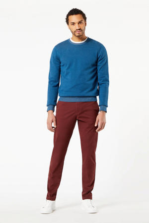 regular fit chino donkerrood