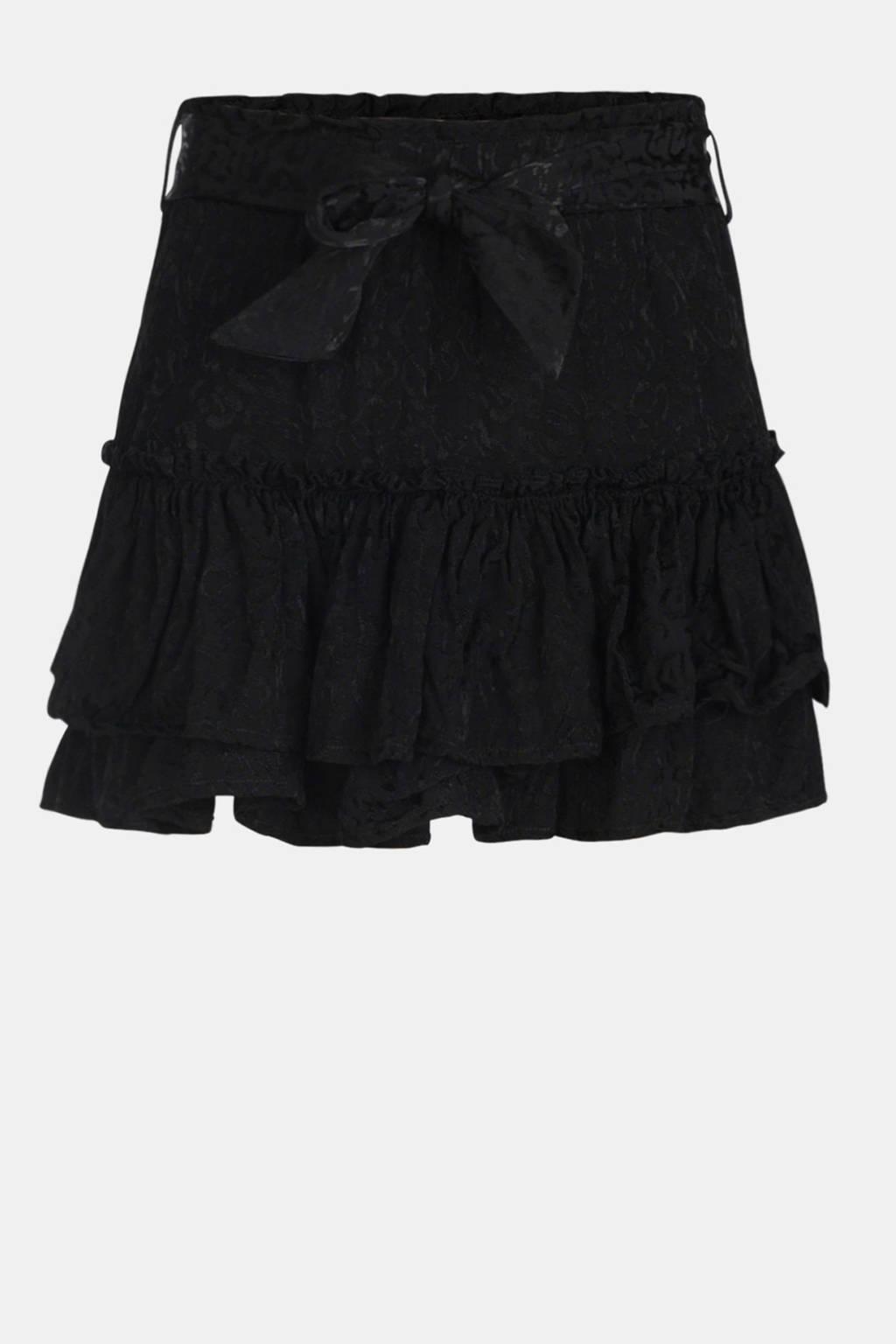 Jill & Mitch by Shoeby rok Catice met all over print en ceintuur zwart, Zwart