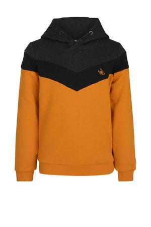 hoodie Parker donkergeel/zwart