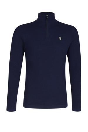 trui Roy met textuur donkerblauw