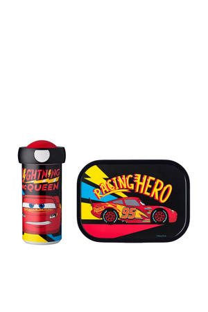 Campus lunchset Cars go (lunchbox+drinkbeker)