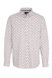 State of Art regular fit overhemd wit/roze, Wit/roze