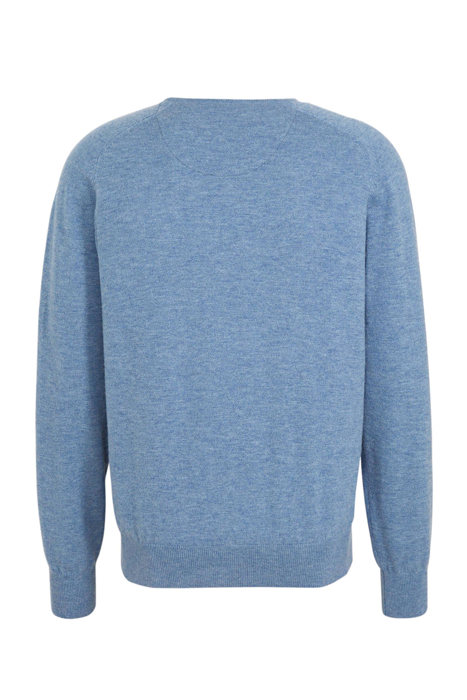Fijngebreide wollen trui IJsblauw DAMES | H&M NL