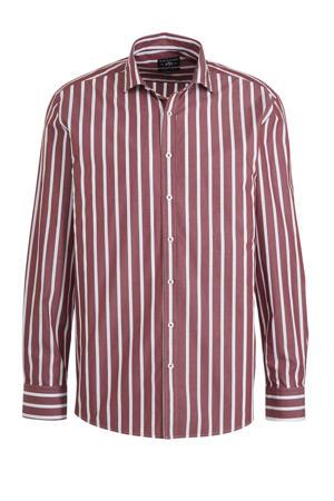 gestreept regular fit overhemd rood/wit