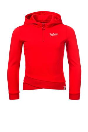 hoodie felrood