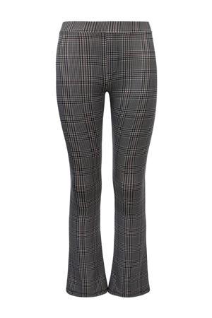 geruite flared broek grijs/zwart