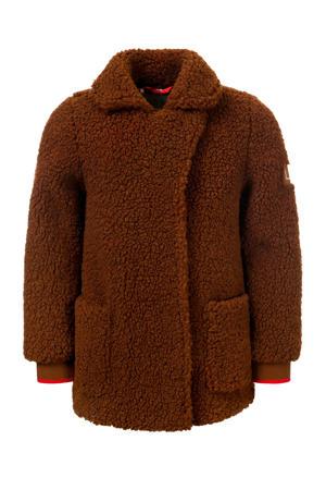 teddy winterjas bruin