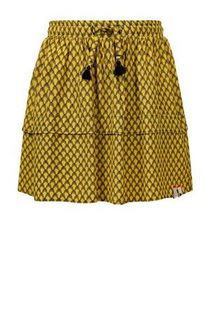rok met all over print geel/zwart