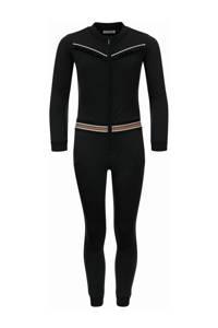 LOOXS 10sixteen jumpsuit met tekst zwart/goud, Zwart/goud