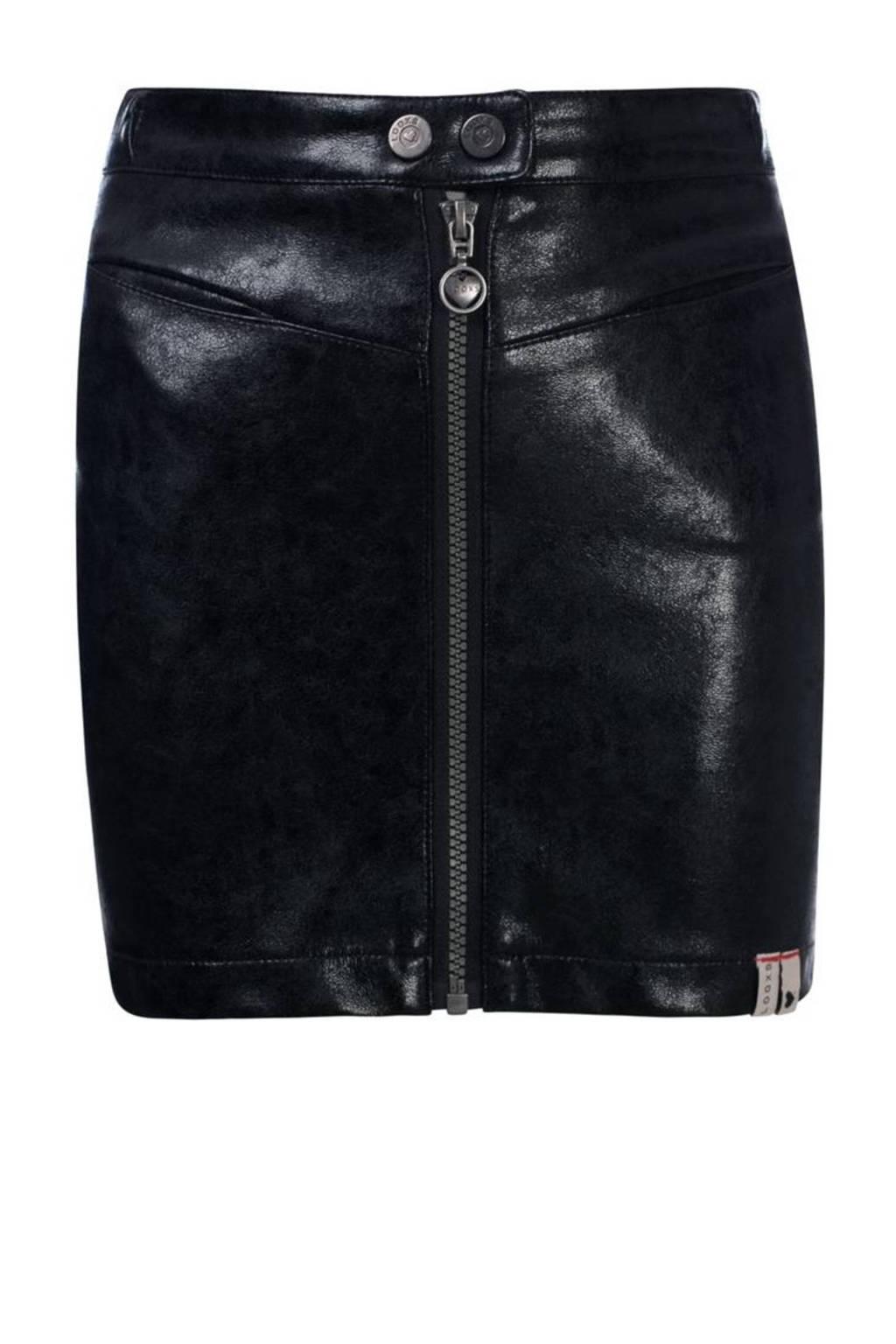 LOOXS 10sixteen imitatieleren rok zwart, Zwart