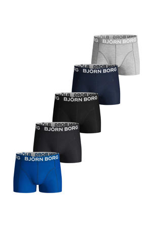boxershort - set van 5 blauw/zwart/grijs