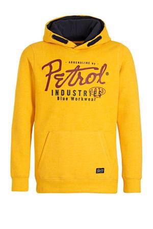 hoodie met logo warm geel