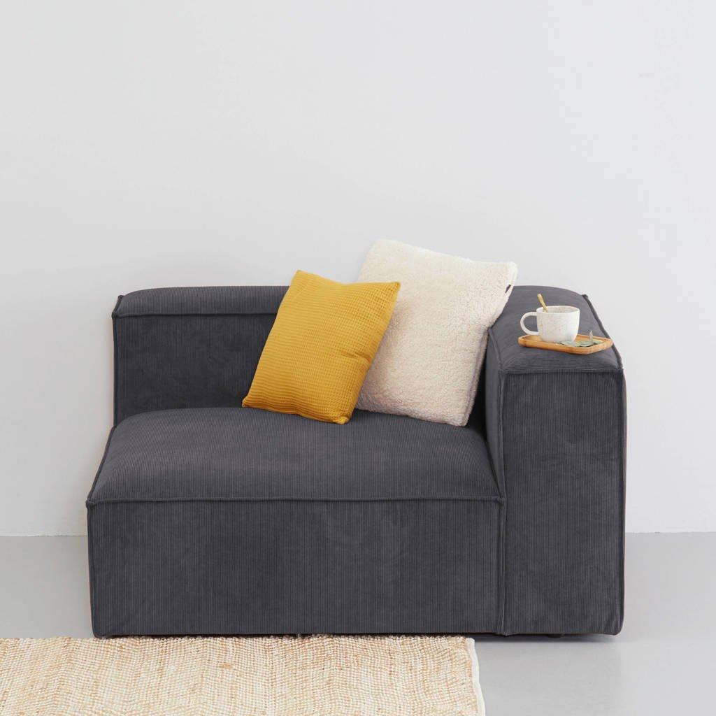 Wehkamp Home Igor modulair bankelement (chaise rechts), Antraciet