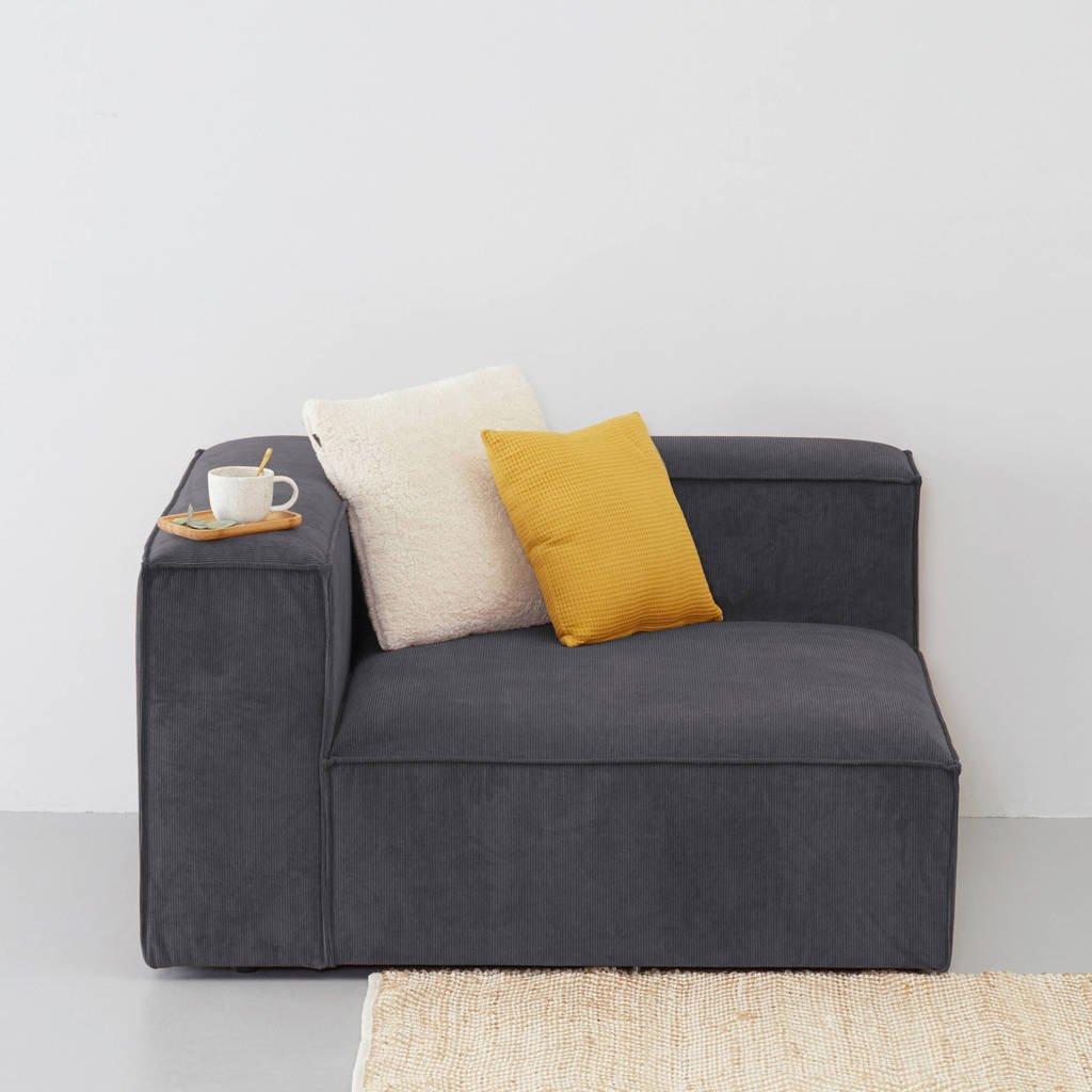 Wehkamp Home Igor modulair bankelement (chaise links), Antraciet