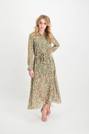 blousejurk Jolanda met all over print groen