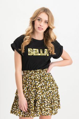 T-shirt Lara met printopdruk zwart