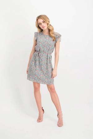 jurk Paulina met all over print mintgroen