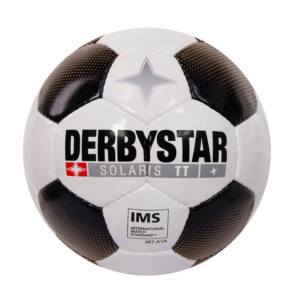 Derbystar   voetbal Solaris TT maat 5 maat 5, Wit/zwart