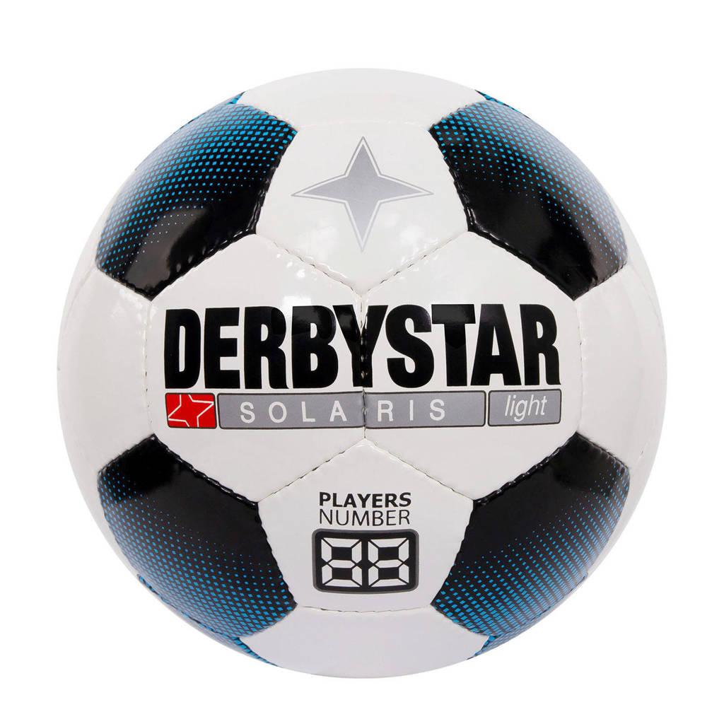 Derbystar   voetbal Solaris light maat 5 maat 5, Wit/blauw