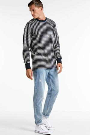 gestreepte sweater donkerblauw