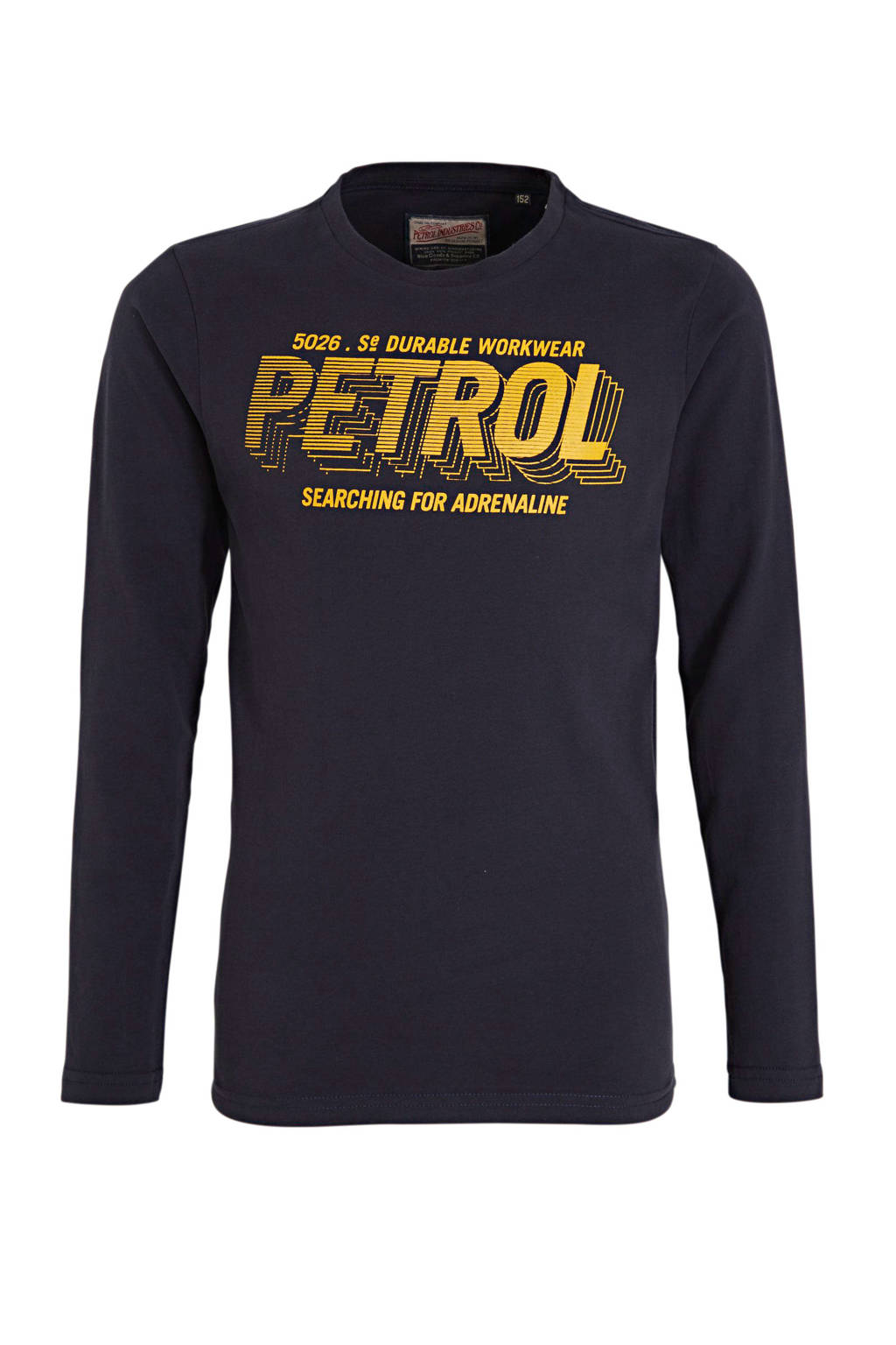 Petrol Industries longsleeve met logo donkerblauw, Donkerblauw