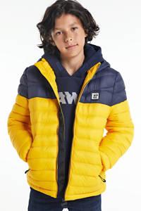 Petrol Industries winterjas donkerblauw/geel, Donkerblauw/geel