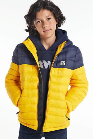 winterjas donkerblauw/geel