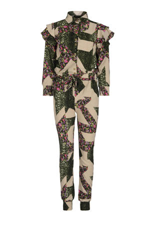 jumpsuit Giga met all over print groen