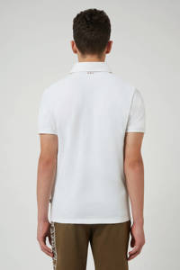 Napapijri polo Eoli met logo wit, Wit