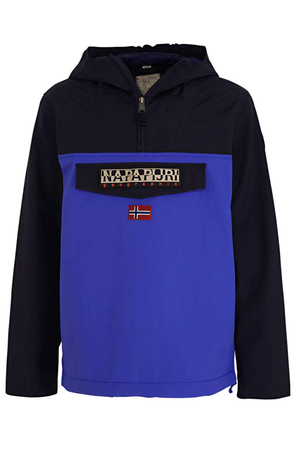 Napapijri zomerjas Rainforest CB met logo blauw/donkerblauw, Blauw/donkerblauw