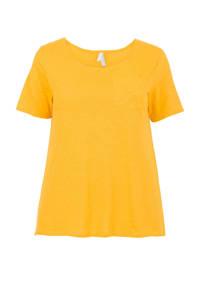 Miss Etam Plus T-shirt geel, Geel