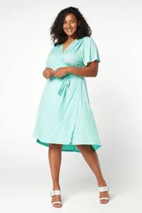 Miss Etam Plus jersey jurk met all over print groen, Groen